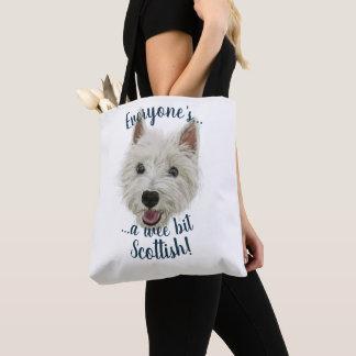 Bolsa Tote Westie pequenino Terrier, todos escocês!