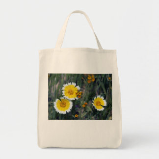 Bolsa Tote Wildflowers amarelos e girassóis brancos