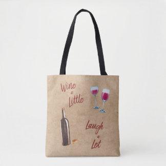 Bolsa Tote Wine pouca sacola das citações do riso muito
