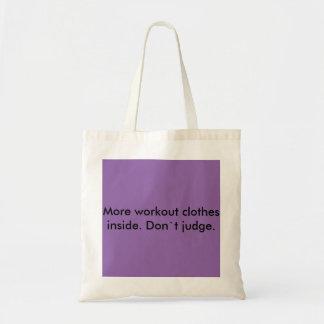 Bolsa Tote Woekout veste a sacola da compra