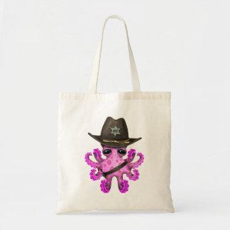 Bolsa Tote Xerife cor-de-rosa bonito do polvo do bebê