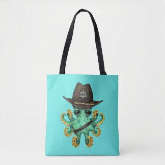 Bolsa Tote Xerife verde bonito do polvo do bebê
