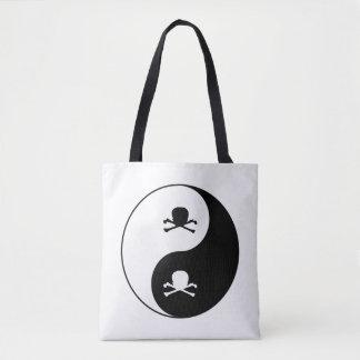Bolsa Tote Yin e crânios de yang
