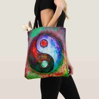 Bolsa Tote Yin Yang - Colorful Painting III