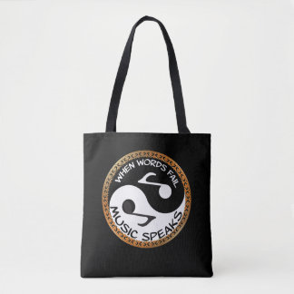 Bolsa Tote Yin Yang com palavras da música