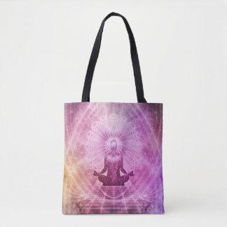 Bolsa Tote Zen espiritual da meditação da ioga colorido