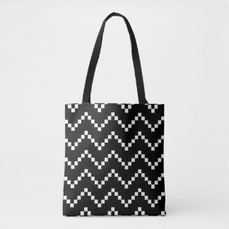 Bolsa Tote Ziguezague preto do EB
