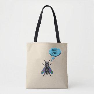 Bolsa Tote Zumbido engraçado fora da sacola da mosca