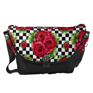 Bolsas Mensageiro Amor floral do buquê das rosas vermelhas