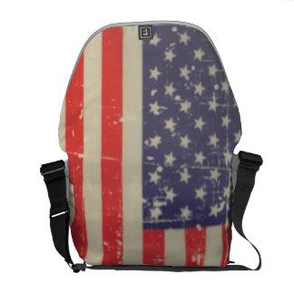 Bolsas Mensageiro Bandeira americana resistida, afligida dos EUA