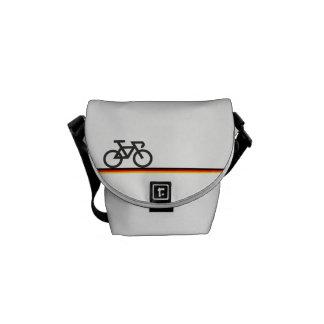 Bolsas Mensageiro Bicicleta com linhas de bandeira Alemão-inspiradas