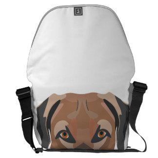 Bolsas Mensageiro Cão Brown Labrador da ilustração