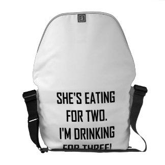 Bolsas Mensageiro Comer para dois que bebem para três