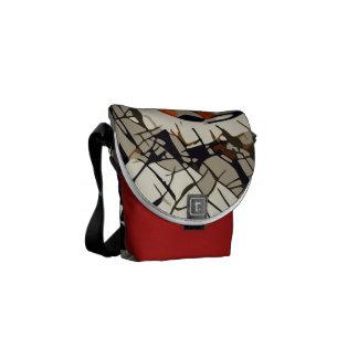 Bolsas Mensageiro Desenho estilizado de um joaninha vermelho