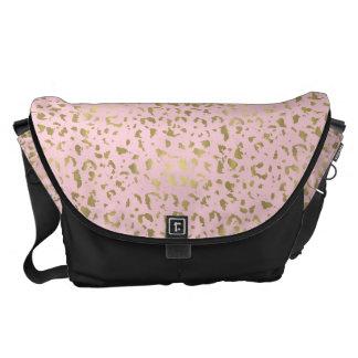 Bolsas Mensageiro Impressão animal cor-de-rosa do ouro