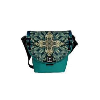 Bolsas Mensageiro Mini saco do rickshaw com design marroquino