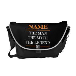 Bolsas Mensageiro Nome personalizado o homem o mito a legenda