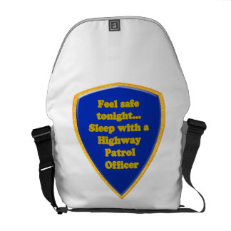 Bolsas Mensageiro Oficial de patrulha da estrada