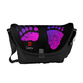 Bolsas Mensageiro Patas de urso em cor-de-rosa/roxo - a bolsa