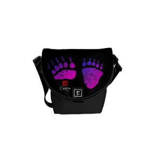 Bolsas Mensageiro Patas de urso em cor-de-rosa/roxo - a mini bolsa