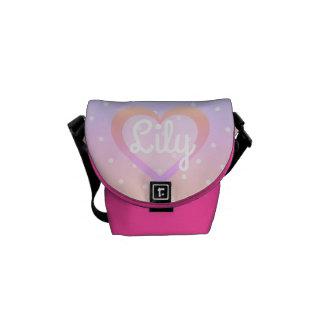 Bolsas Mensageiro Saco cor-de-rosa Customisable do Mini-Mensageiro