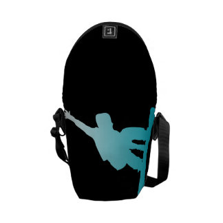 Bolsas Mensageiro snowboarder do azul do inclinação