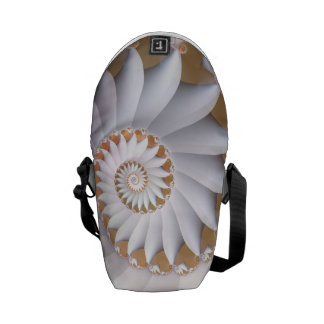 Bolsas Mensageiro Teste padrão abstrato bonito de Shell do mar