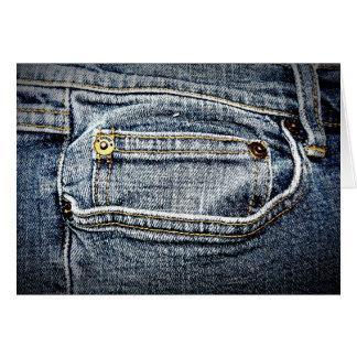 Bolso azul da sarja de Nimes de Jean - personalize Cartao