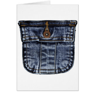 Bolso de jeans da sarja de Nimes Cartão Comemorativo