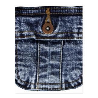 Bolso de jeans da sarja de Nimes Cartão Postal