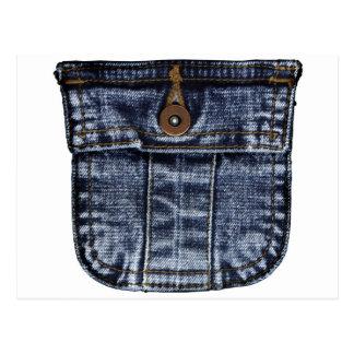 Bolso de jeans da sarja de Nimes Cartões Postais
