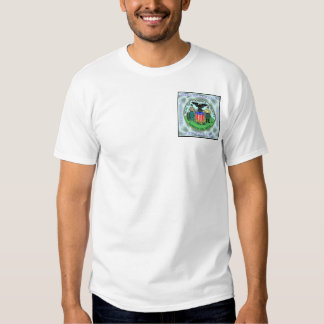 Bolso, selo colorido no cetim do Aqua T-shirts
