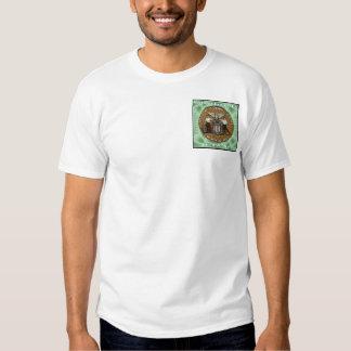 Bolso, selo no cetim verde t-shirt