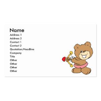 bom alvo que pisc o design do urso de ursinho do cartão de visita