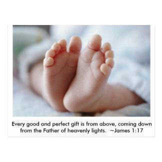 Bom & anúncio perfeito da gravidez do ~ do cartão postal