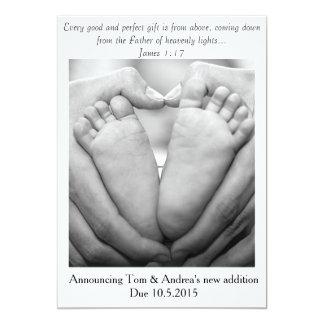 Bom & anúncio perfeito da gravidez do ~ do convite 12.7 x 17.78cm