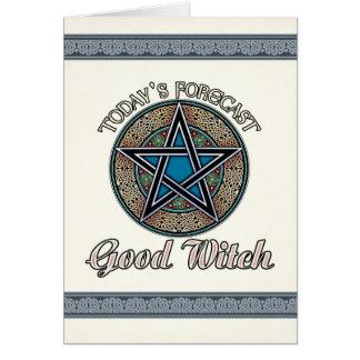 Bom cartão da bruxa