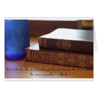 Bom cartão das citações dos livros
