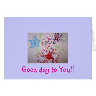 Bom dia a você!! Cartão