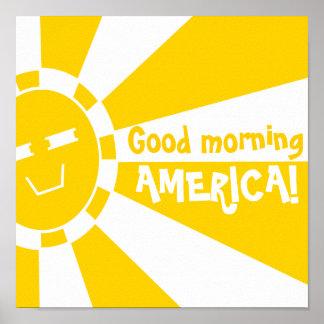 Bom dia AMÉRICA Impressão