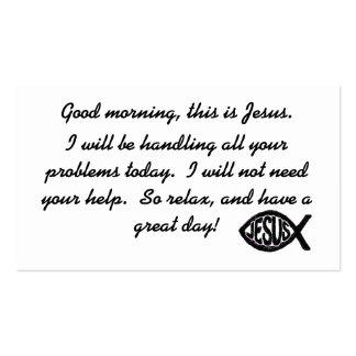 Bom dia este é cartão de visita de Jesus