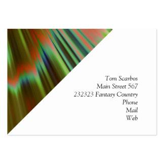 bom dia, (i) verde cartão de visita grande