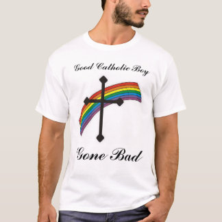 Bom menino católico camiseta
