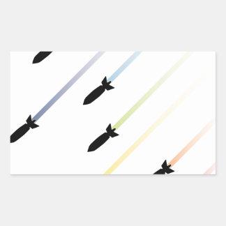 Bomba 3 do ar dos desenhos animados adesivo retangular