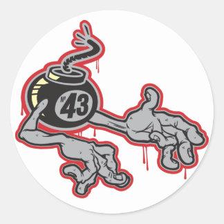 Bomba 43 com braços adesivo