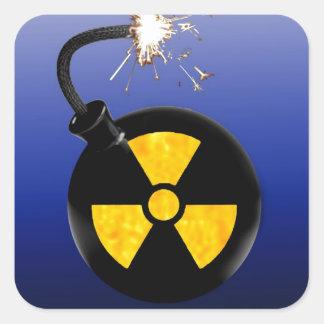 Bomba atômica adesivo quadrado