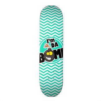Bomba da Dinamarca!  Aqua Chevron verde Skate Personalizado