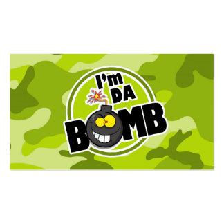 Bomba da Dinamarca! camo verde-claro, camuflagem Cartão De Visita