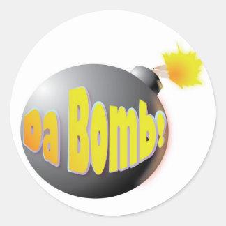 Bomba da Dinamarca! etiqueta Adesivo
