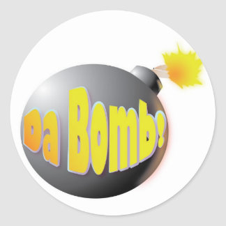 Bomba da Dinamarca! etiqueta Adesivos Em Formato Redondos